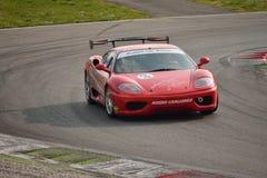 Ferrari 360 de Academie 2016 van Modena Merzario in Monza Royalty-vrije Stock Afbeeldingen