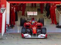 Ferrari in de kuil Royalty-vrije Stock Afbeeldingen