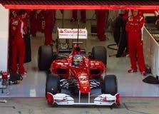 Ferrari in der Grube stockbilder
