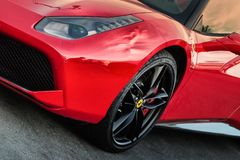Ferrari 458, detail stock photography