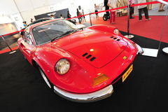 Ferrari Dino 246 GT classic cabriolet on display during Singapore Yacht Show at One Degree 15 Marina Club Sentosa Cove Stock Photo
