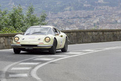 Ferrari Dino 246 GT driven by Summerfield Lester Royalty Free Stock Image