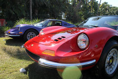 Ferrari dino line up. Classic ferrari dino 246 gt sports car line up at cavallino 2012 Royalty Free Stock Images