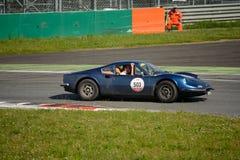 Ferrari Dino 246 at the Mille Miglia Tribute competition Stock Image