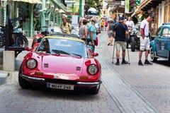 Ferrari Dino rocznika weterana oldsmobile samochody przygotowywa dla Saalbach klasyka zbierają zdjęcia royalty free