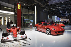 The Ferrari Display Royalty Free Stock Photo