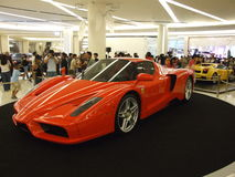 Ferrari on display, Bangkok, Thailand. BANGKOK, THAILAND - JANUARY 8: Ferrari Enzo inside the Siam Paragon shopping center at the grand opening. January 8 2005 Royalty Free Stock Images