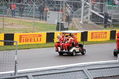 Ferrari drivers at Montreal Grand prix Stock Photography