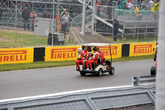 Ferrari drivers at Montreal Grand prix Royalty Free Stock Photo