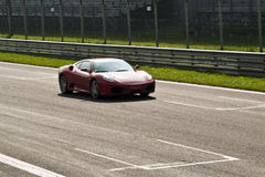 Ferrari em di Monza de Autodromo Foto de Stock Royalty Free