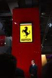 Ferrari en el automóvil del salón Imagen de archivo