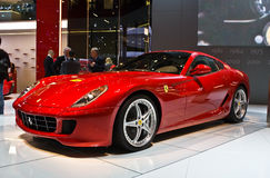 Ferrari en el motorshow de Ginebra Imagenes de archivo