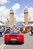Ferrari en el salón del automóvil de Barcelona Fotografía de archivo libre de regalías