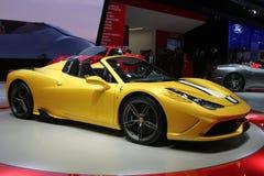 Ferrari en el salón del automóvil 2014 de París Fotografía de archivo libre de regalías