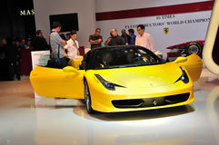 Ferrari en IAA Francfort 2011 fotografía de archivo