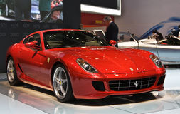Ferrari en la Ginebra Autosalon Foto de archivo libre de regalías