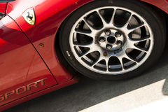 Ferrari en los di Monza de Autodromo Fotografía de archivo libre de regalías