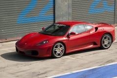 Ferrari en los di Monza de Autodromo Imagen de archivo libre de regalías