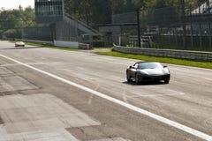 Ferrari en los di Monza de Autodromo Foto de archivo