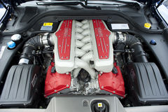Ferrari engine Stock Photography