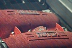 Ferrari engine detail V8 Royalty Free Stock Photography