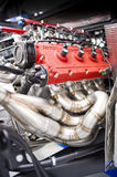 Ferrari engine and exhaust Stock Photography