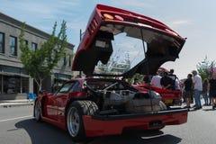 Ferrari Enzo auf Anzeige lizenzfreies stockfoto