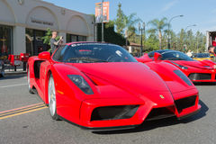 Ferrari Enzo on display Stock Images