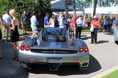 Ferrari enzo supercar rear view Stock Photos