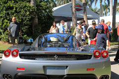 Ferrari enzo supercar rear view Stock Photo