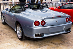 Ferrari-Erscheinen-Tag - 550 Barchetta - hinteres Ende Stockbild