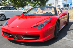 Ferrari on exhibition at an annual event Supercar Sunday Ferrari Royalty Free Stock Photo
