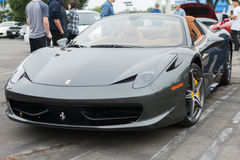 Ferrari on exhibition at an annual event Supercar Sunday Ferrari. LOS ANGELES, CALIFORNIA - USA - JUNE 8, 2014: Ferrari on exhibition at the annual event stock images