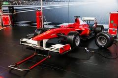 Ferrari F1. Abu Dhabi, UAE - November 17, 2018: Formula One sports car Ferrari in the theme park Ferrari World royalty free stock image