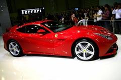 Ferrari F12 Berlinetta. Model car from international auto show istanbul stock image
