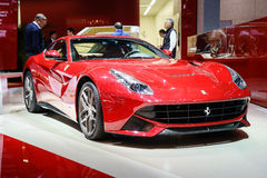 Ferrari F12berlinetta, Motor Show Geneve 2015. Stock Image