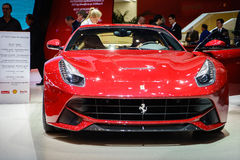 Ferrari F12berlinetta, Motor Show Geneve 2015. Stock Photo