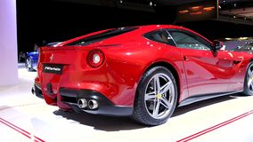 Ferrari F12 Berlinetta sports car stock video footage