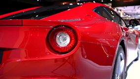 Ferrari F12 Berlinetta sports car stock footage