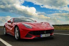Ferrari F12 Berlinetta. In the street Stock Images