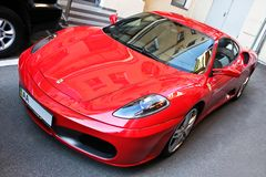 September 18, 2012, Kyiv. Ukraine. Ferrari F430 in the city. Ferrari F430 in the city stock image