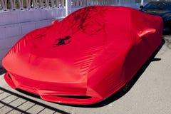 Ferrari F458 covered Royalty Free Stock Photo