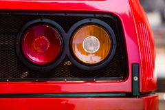 Ferrari F40 detail rear lights royalty free stock images