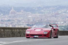 Ferrari F40 driven by Rader Klaus Royalty Free Stock Photo