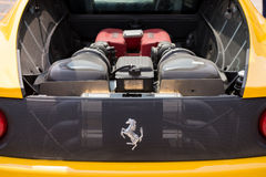 Ferrari F430 engine trunk on display Royalty Free Stock Photo