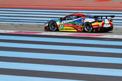Ferrari F458 Italia On Paul Ricard track Stock Images
