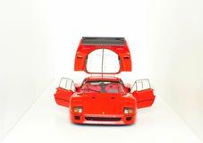 Ferrari F40 Le Mans - puertas abiertas y capilla del motor Foto de archivo libre de regalías