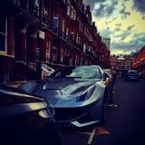 Ferrari f12 Londres Images libres de droits