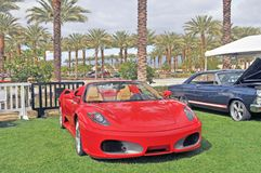 Ferrari F430. The Ferrari F430 model was built between the years 2004-2009 at Maranello, Italy. The body was designed at Pininfarina. The top speed of this model Stock Images
