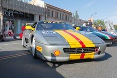 Ferrari F655 på skärm Royaltyfri Foto